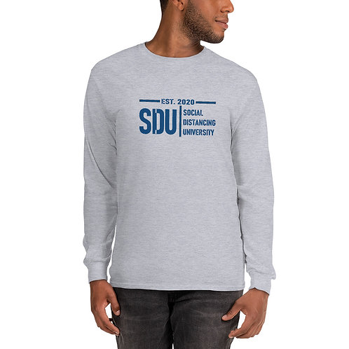 SDU Social Distancing University Men's Long Sleeve Shirt
