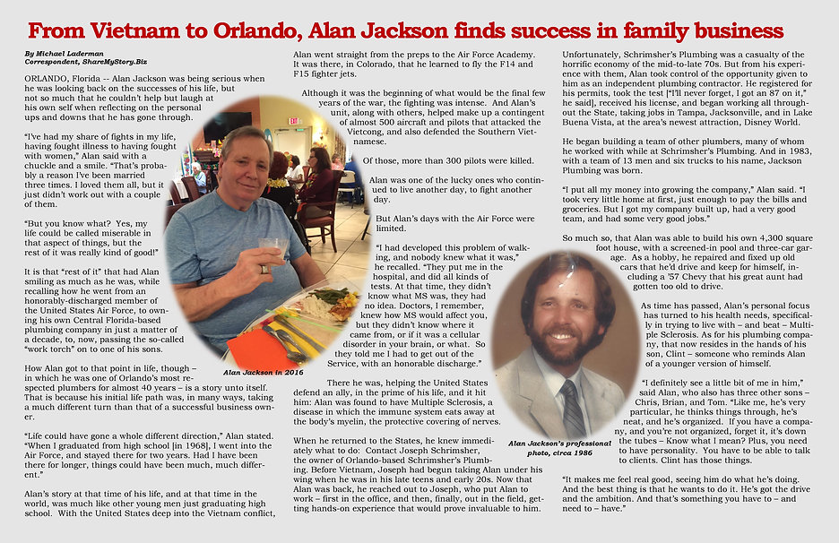 From Vietnam to Orlando, Alan Jackson finds success in family business
