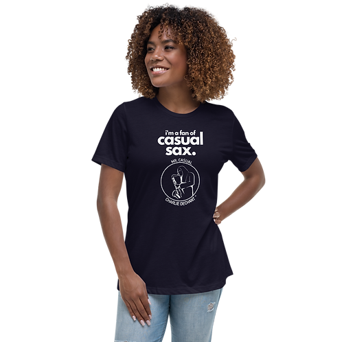 """Mr. Casual"" Casual Sax Women's Relaxed T-Shirt"