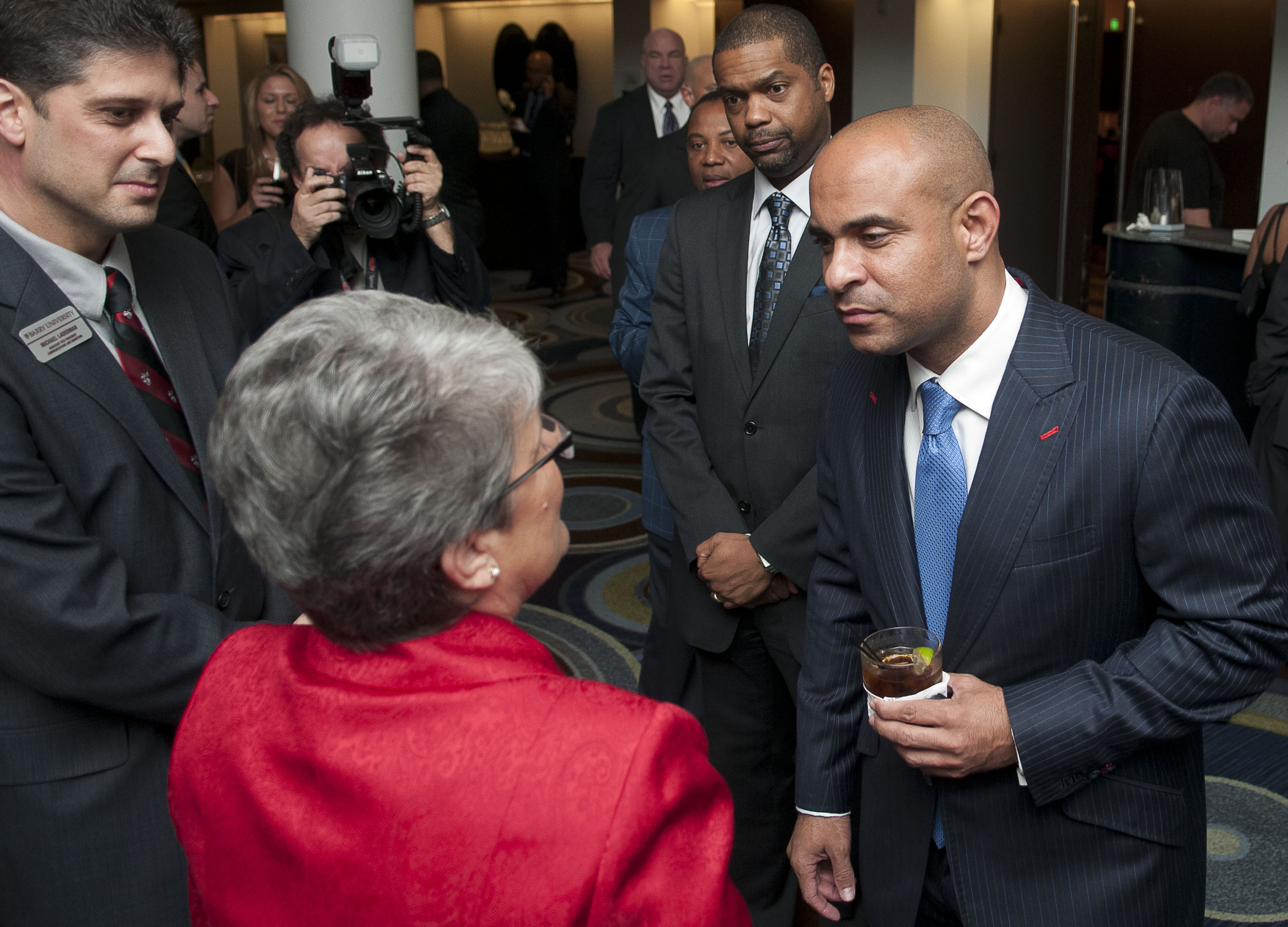 Prime Minister Lamothe at BU event