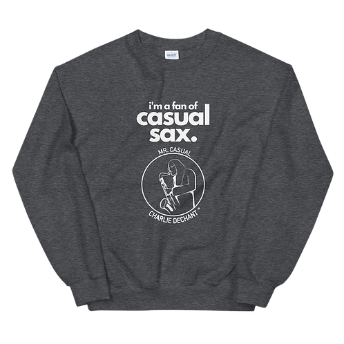 """Mr. Casual """"Casual Sax"""" Unisex Sweatshirt - Winter Collection"""