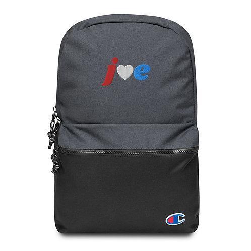 """Love"" Joe - Embroidered Champion Backpack"