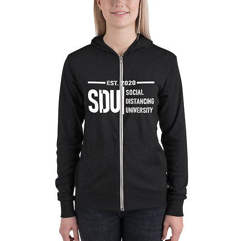 SDU Social Distancing University Women's zip hoodie