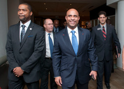 Escorting Haiti's Prime Minister