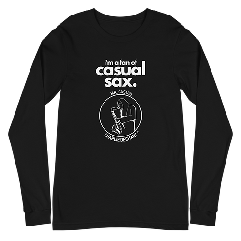 "Mr. Casual ""Casual Sax"" Unisex Long Sleeve Tee"