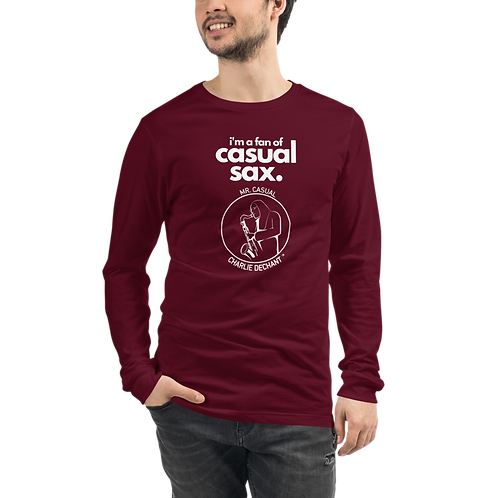 """Mr. Casual"" Casual Sax Unisex Long Sleeve Tee"