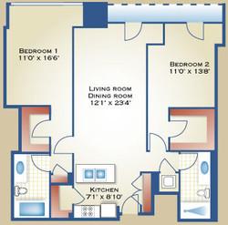 2 Bedroom Layout