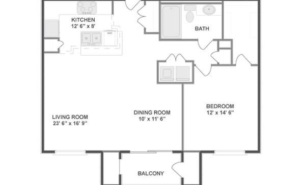1-Bedroom Layout