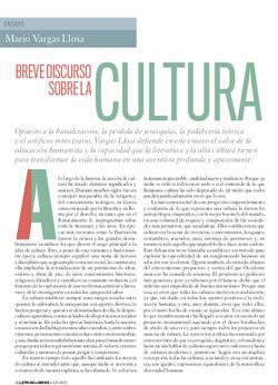 Breve discurso sobre la cultura