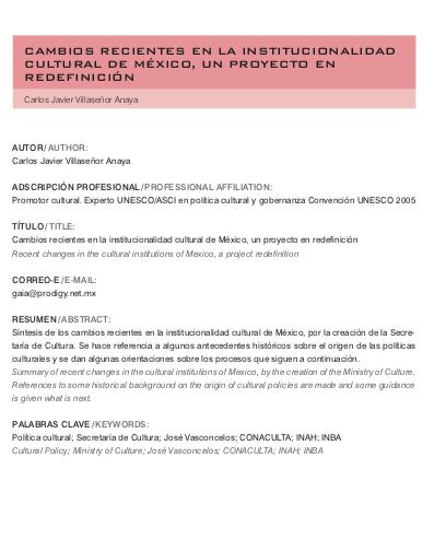 nstitucionalidad cultural de México