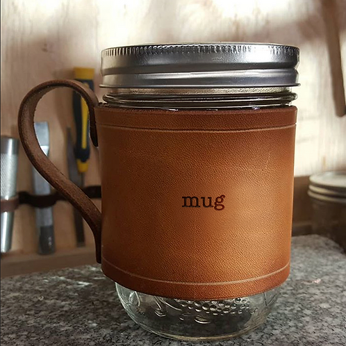 S'mug - Handmade Leather Sleeve