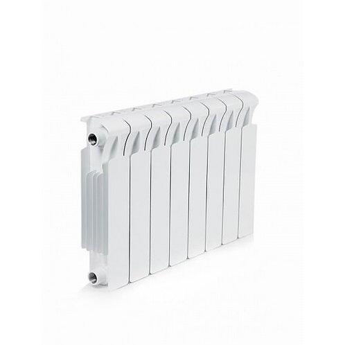 Радиатор биметаллический Rifar Monolit 350 8 секций боковое  подключен