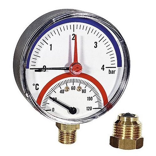Термоманометр радиальный 80 мм F+R828 (TMRP) 4 бар Watts