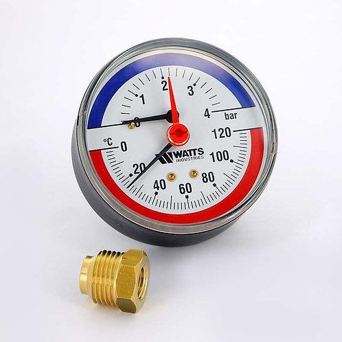 Термоманометр аксиальный 80 мм F+R818 (TMAP) 4 бар Watts