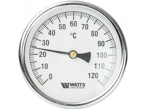 Термометр биметаллический 63 мм с погружной гильзой (50 мм) Watts