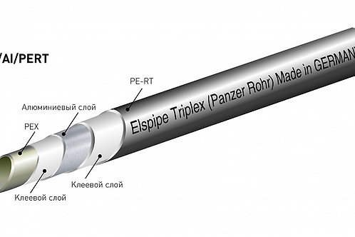 Труба металлополимерная Elsen Elspipe Triplex 16,2x2,6 (бухта: 100 м)