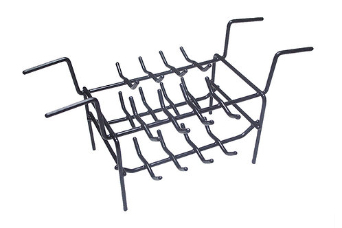 Coated Double Ring Rack - 32 Rings: