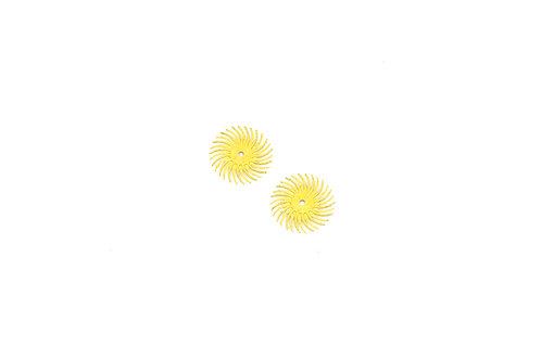 "3M 3-Radial Bristle Discs, 3/4"" Diameter, 80 Grit, Yellow"