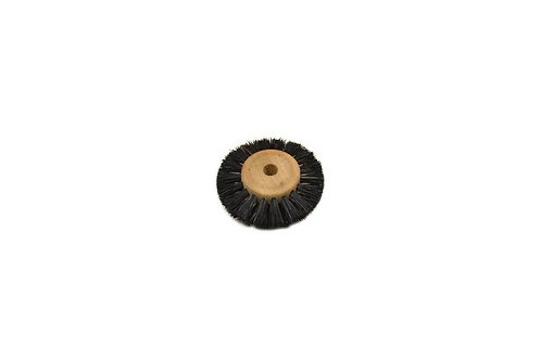 "Wood Hub Brush, 2 Rows of Bristle, 1-3/4"" Overall Diameter:"
