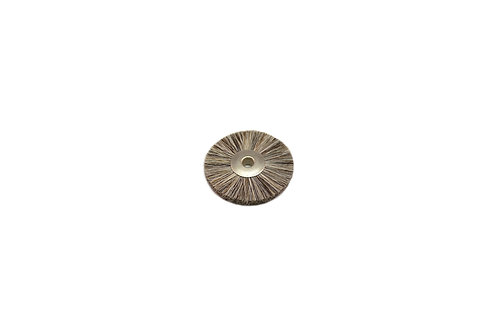 "Soft Bristle Wheel Brush, 1-1/4"" Diameter 1/8"" Arbor Hole"