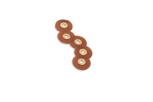"""Magnum Sanding Discs, 7/8"""" Diameter, Coarse Grit, Aluminum Oxide, Brass Center:"""
