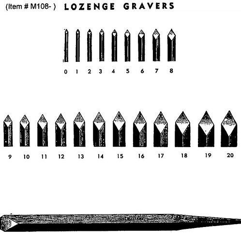 Muller Lozenge Gravers #18