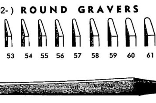 Muller HS Round Gravers #55