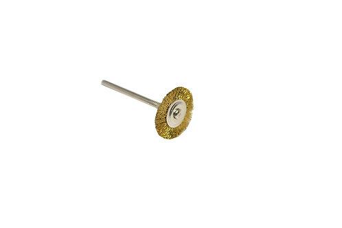 """Crimped Brass Wire Wheel Brush, 3/4"""" Diameter 3/32"""" Shank"""