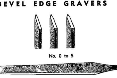 Muller HS Bevel #2 Gravers