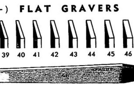 Muller Flat Gravers #40