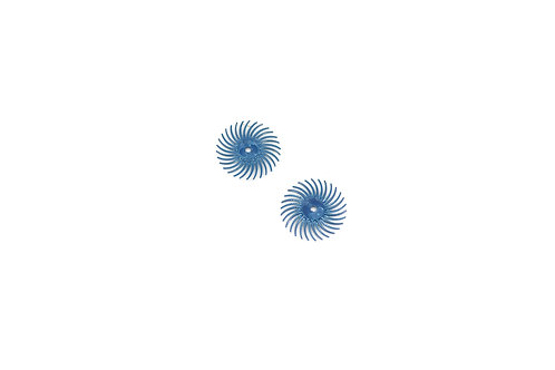 """3M 3-Radial Bristle Discs, 3/4"""" Diameter, 400 Grit, Blue"""
