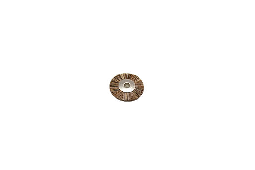 """Medium Stiffness Bristle Wheel Brush, 1"""" Diameter 1/8"""" Arbor Hole"""