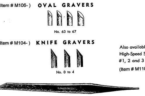 Muller Oval Gravers #66