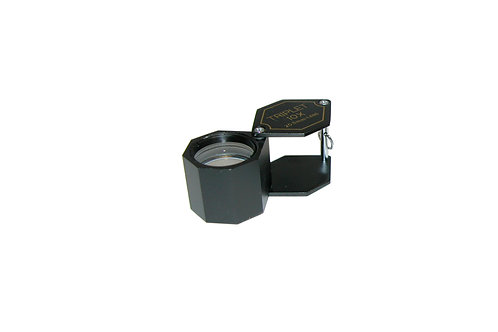 Large Hex Diamond Cut Loupe, Black, 10X Power