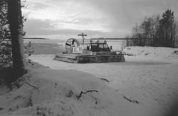 snowy slipway Hovercraft Travel