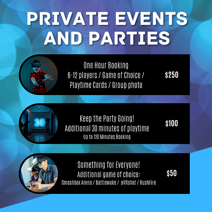 Private events and parties - pricing (1)