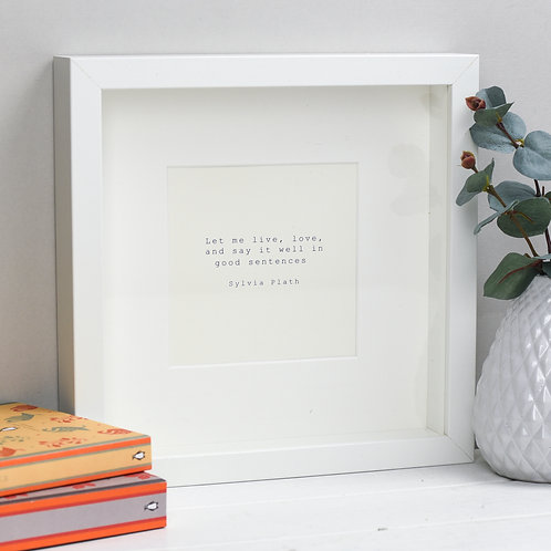Sylvia Plath Print