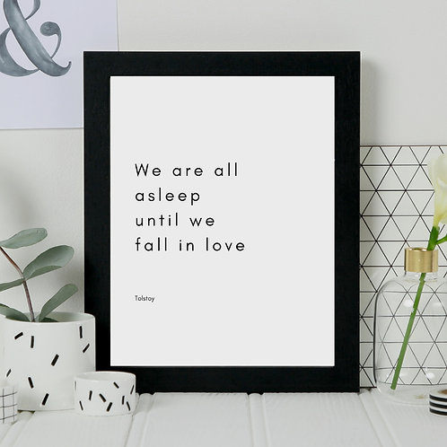 'Fall in Love' War And Peace Print