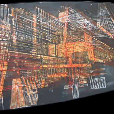 Architecture orange et or
