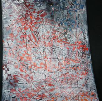 Mosaique rouge orangée