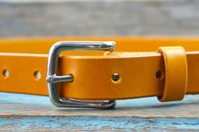 "1"" Yellow Italian Leather £25.00"