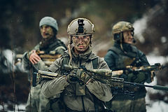 Soldiers on frontline