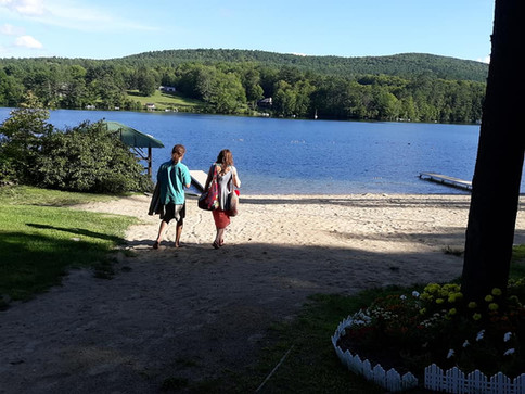 Off to the Beach ~ Lake Fairlee