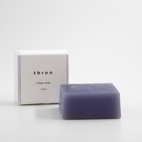 「three」indigo soap