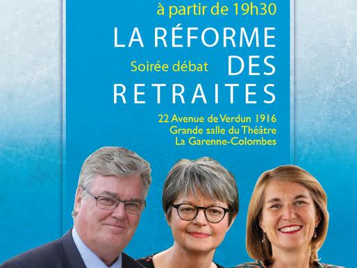 Soirée débat sur la réforme des retraites – 20 novembre à La Garenne-Colombes