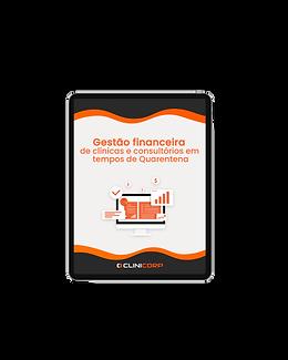 Imagem de um tablet mostrando na tela o e-book de gestão financeira.png