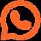 Ícone do WhatsApp representando a integração do aplicativo com o sistema odontológico Clinicorp.png