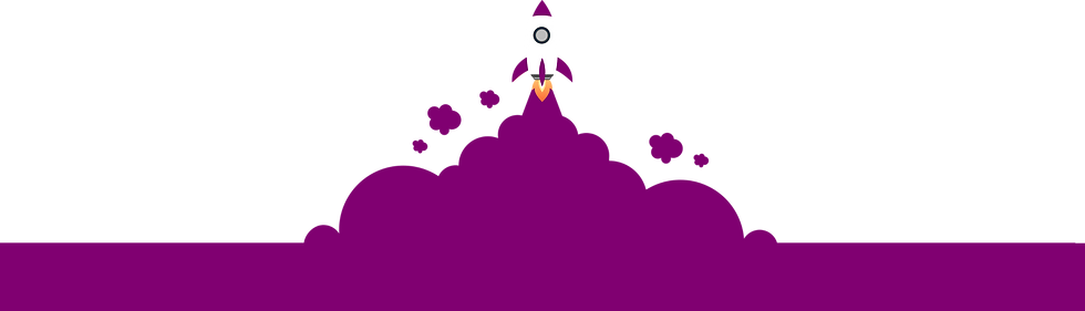 Foguete decolando representando o crescimento acelerando das clínicas de estética