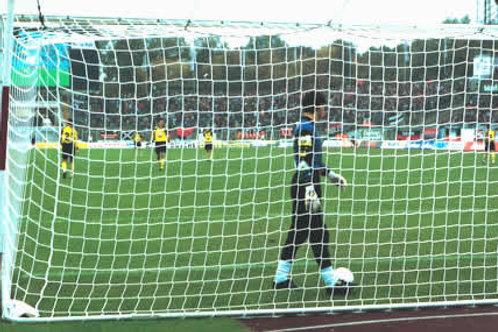 זוג רשתות כדורגל מקצועיות - 7 מטר