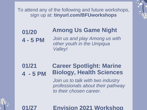 Upcoming Workshops!
